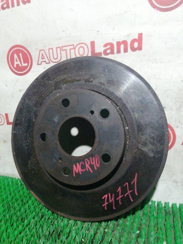 Диск тормозной Toyota Estima MCR40 передний