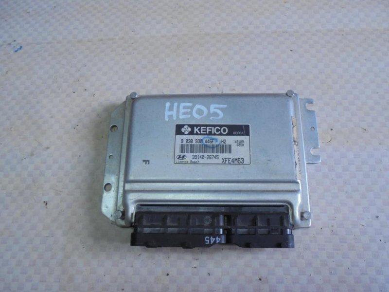 Блок управления двигателем Hyundai Elantra XD G4ED 2004 (б/у)