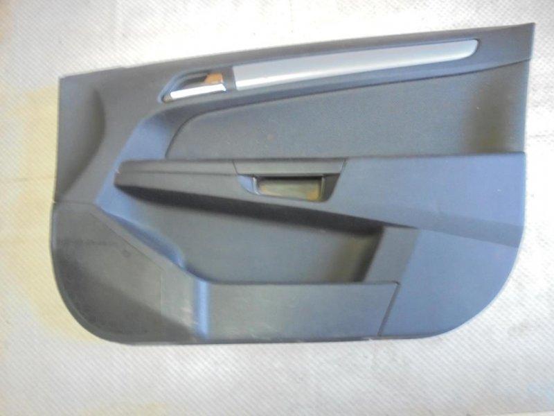 Обшивка двери Opel Astra H Z16XEP 2005 передняя правая (б/у)