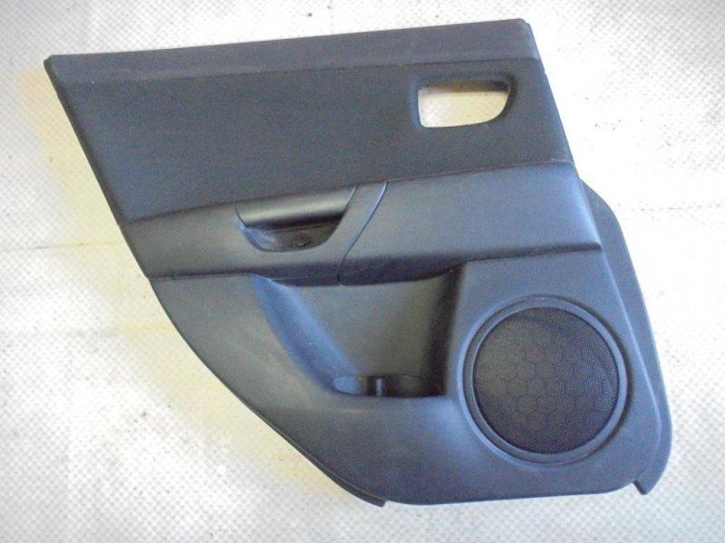 Обшивка двери Mazda Mazda3 BK Z6 2006 задняя левая (б/у)