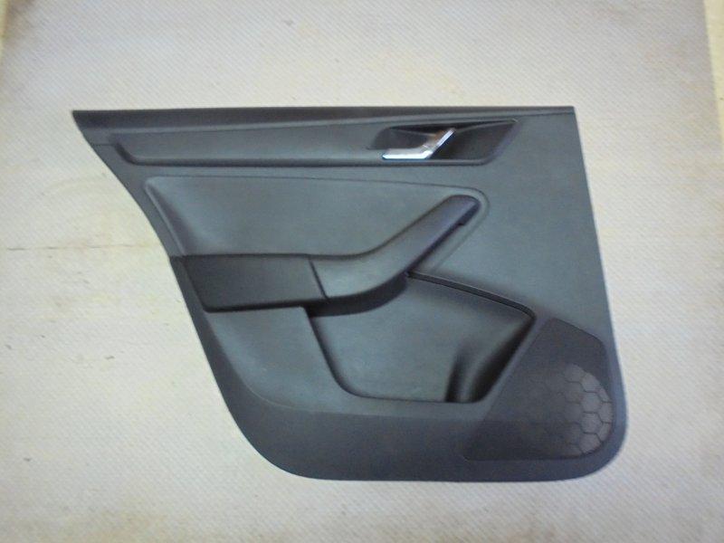 Обшивка двери Skoda Rapid NH3 CGP 2014 задняя левая (б/у)
