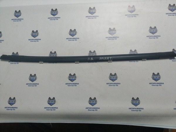 Уплотнитель стекла двери Hyundai Elantra HD G4FC 2010 задний правый (б/у)