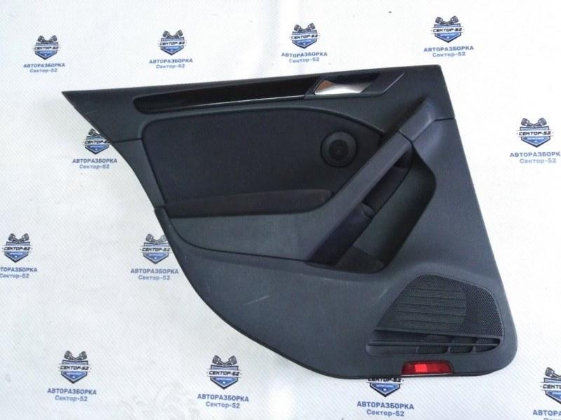 Обшивка двери Volkswagen Golf 5K1 CAVD 2010 задняя левая (б/у)
