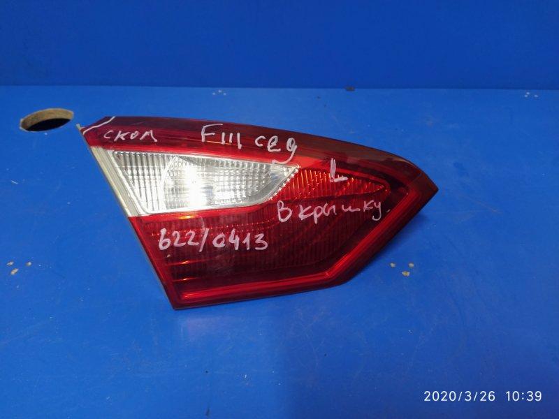 Фонарь задний внутренний левый Ford Focus 3 (2011>) 2011 задний правый (б/у)