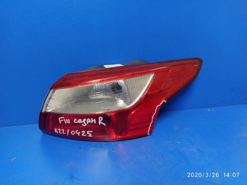 Фонарь задний наружный правый Ford Focus 3 (2011>) 2012 задний правый (б/у)