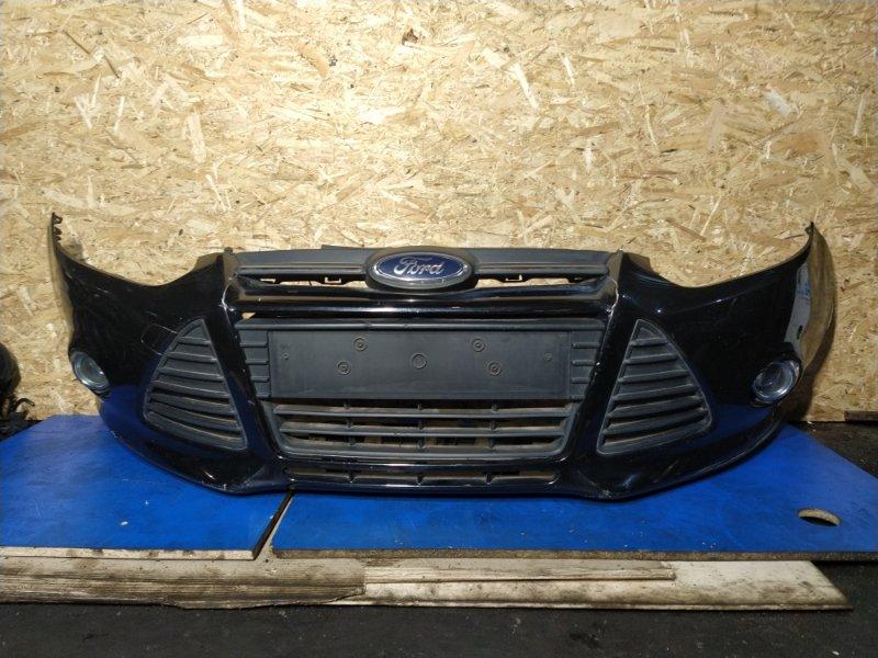 Бампер передний Ford Focus 3 (2011>) ХЭТЧБЕК 1.6 БЕНЗИН 2011 верхний (б/у)