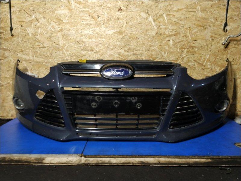 Бампер передний Ford Focus 3 (2011>) ХЭТЧБЕК 1.6L DURATEC TI-VCT (123PS) 2012 (б/у)