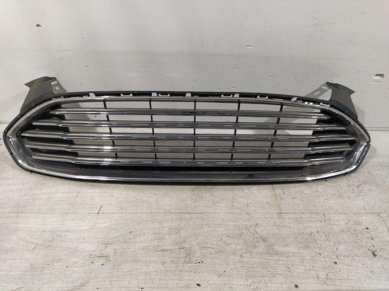 Решетка в бампер центральная Ford Mondeo 5 (2014->) (б/у)