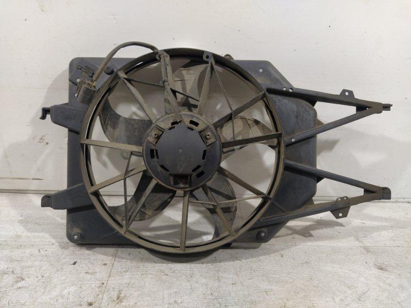 Вентилятор радиатора (в сборе) Ford Focus 1 1998-2005 ХЭТЧБЕК 1.6L ZETEC ROCAM 2002 (б/у)