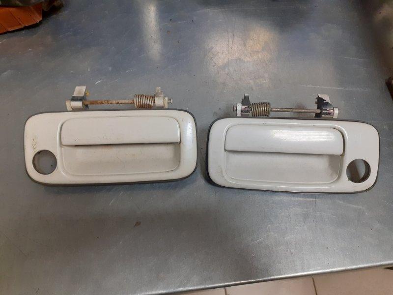 Ручка двери внешняя Toyota Land Cruiser 80 передняя (б/у)