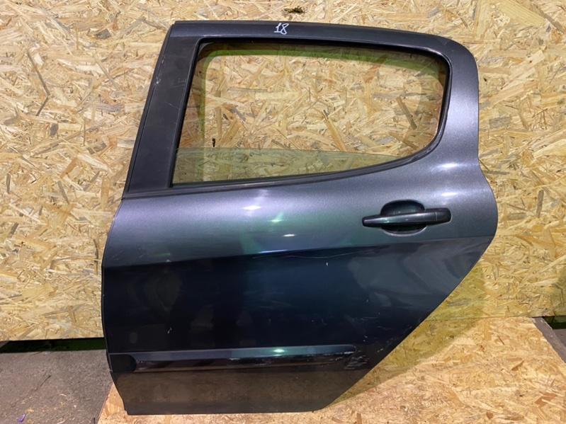 Дверь Peugeot 308 Т7 EP6 2009 задняя левая (б/у)