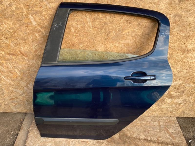 Дверь Peugeot 308 Т7 EP6 2010 задняя левая (б/у)
