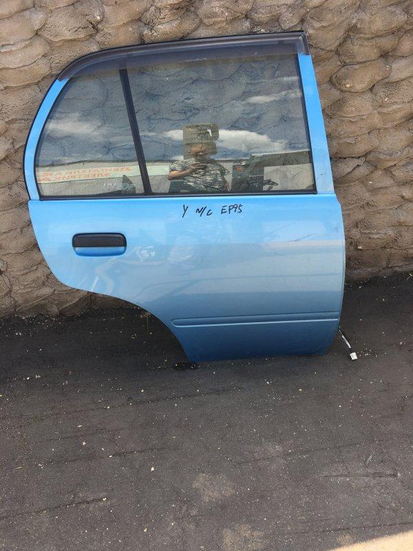 Дверь Toyota Starlet P90 1997 задняя (б/у)