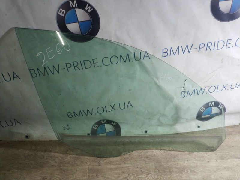 Стекло Bmw 5-Series E60 N52B25 2005 переднее правое (б/у)
