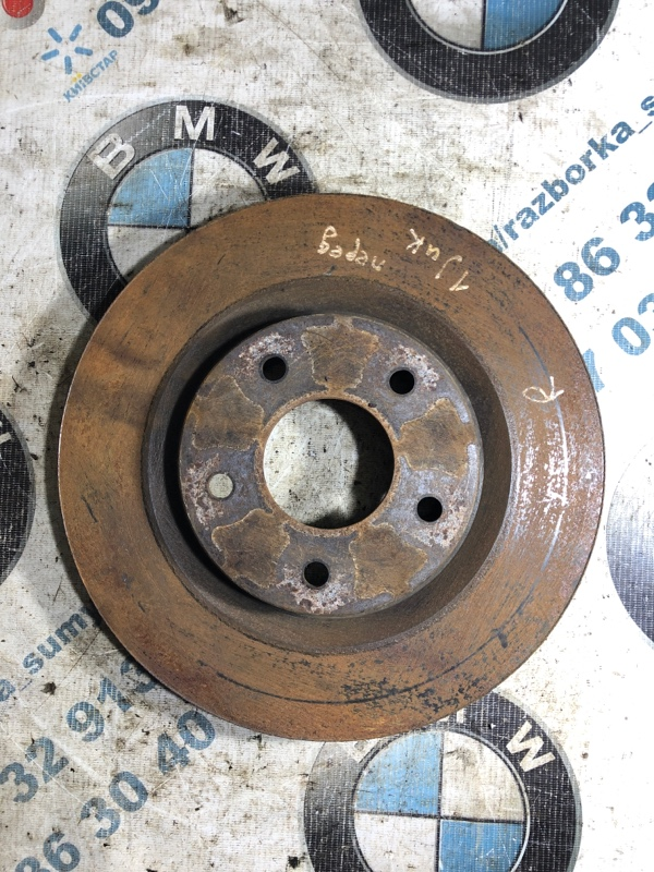 Тормозной диск Nissan Juke 1.6 2011 передний (б/у)