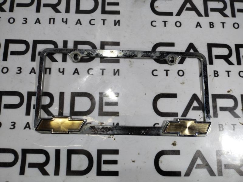 Рамка для номера Chevrolet Cruze 1.8 2012 задняя (б/у)