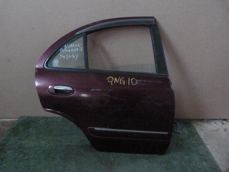 Дверь Nissan Bluebird Sylphy QNG10 задняя правая (б/у)