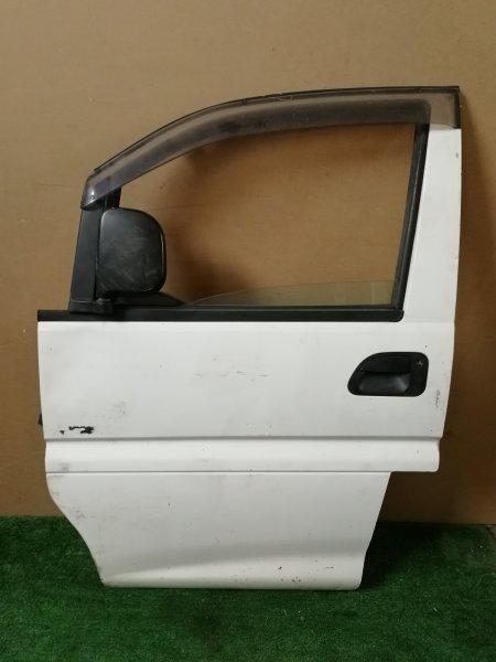 Дверь Mitsubishi Delica PE8W передняя левая (б/у)