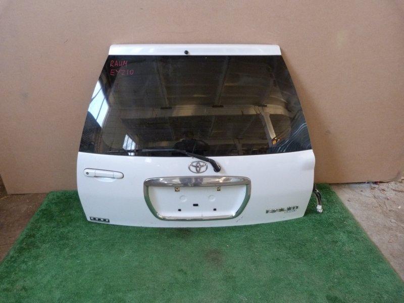 Дверь багажника Toyota Raum EXZ10 задняя (б/у)