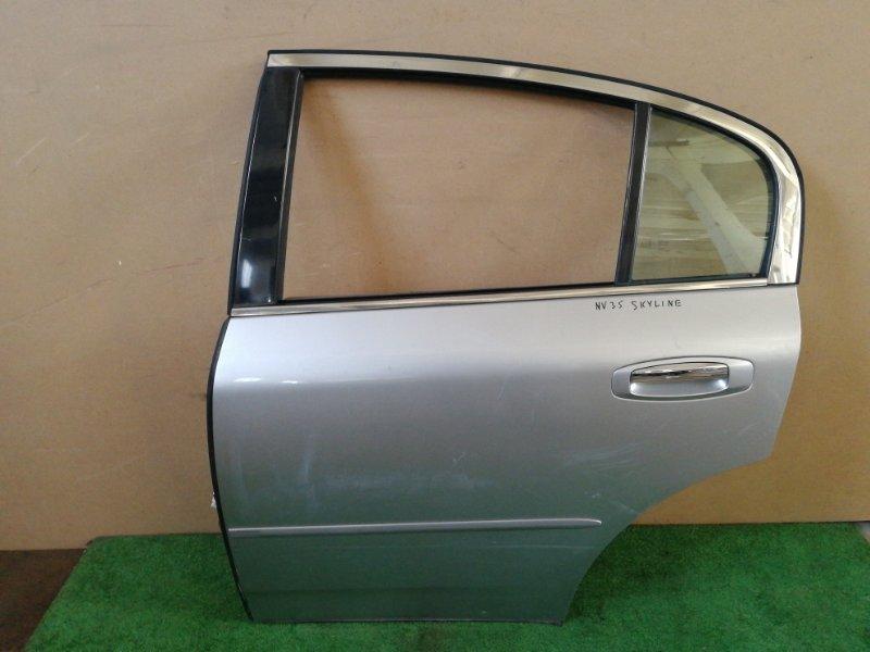 Дверь Nissan Skyline V35 задняя левая (б/у)