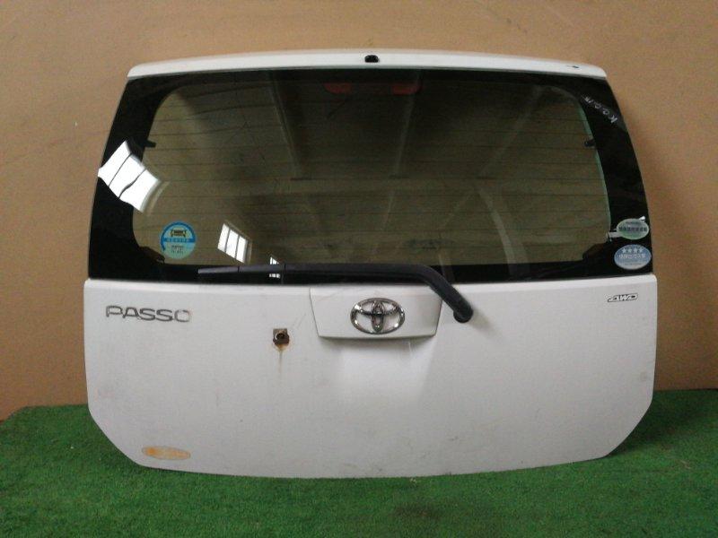 Дверь багажника Toyota Passo KGC15 (б/у)