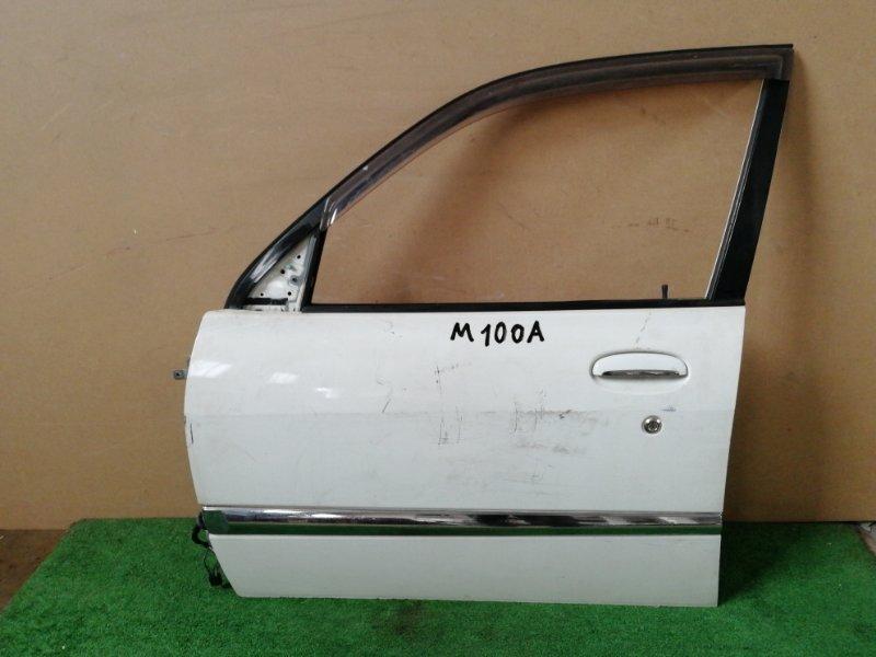 Дверь Toyota Duet M100A передняя левая (б/у)