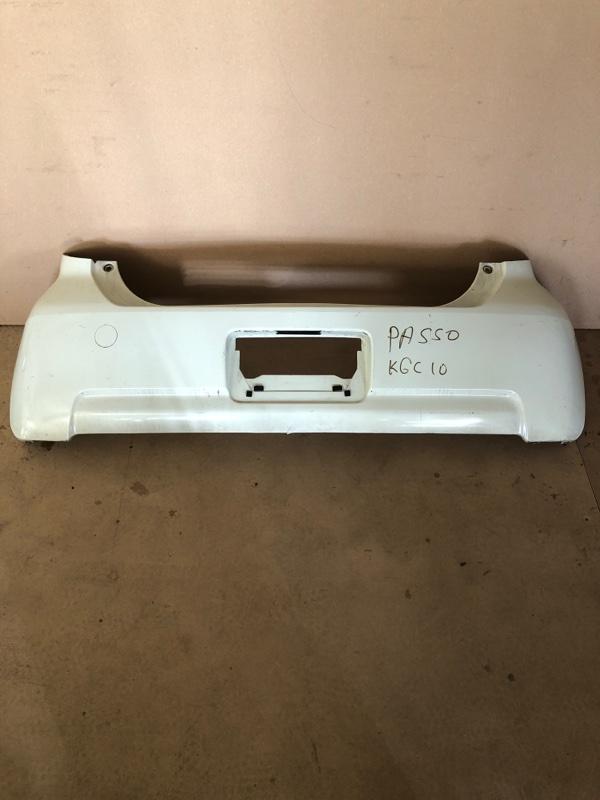 Бампер Toyota Passo KGC15 задний (б/у)