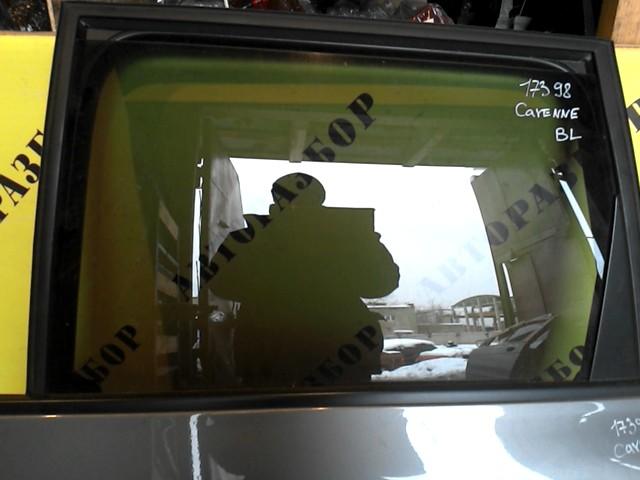 Стекло двери задней левой Porsche Cayenne 2003-2010