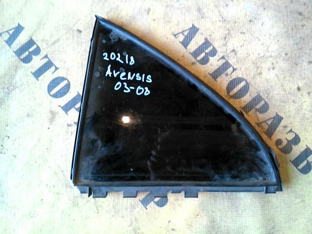 Стекло двери задней левой (форточка) Toyota Avensis 250 2003-2009