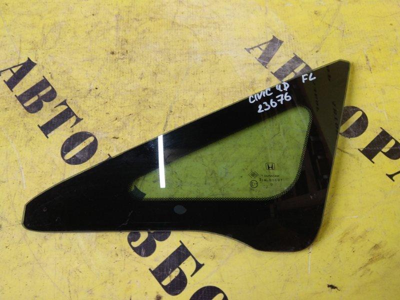 Стекло кузовное глухое переднее левое Honda Civic 4D 2006-2012