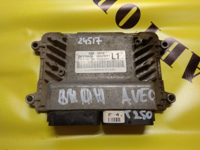 Блок управления двигателем Chevrolet Aveo T250 2005-2011
