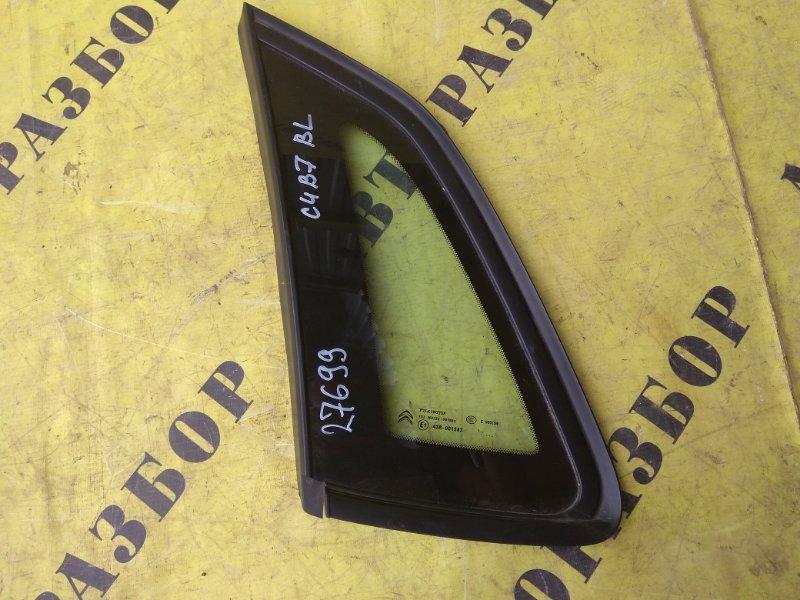 Стекло кузовное глухое заднее левое Citroen C4 2 2011-H.b. ХЭТЧБЕК 1.6 TU5JP4 NFU 2012
