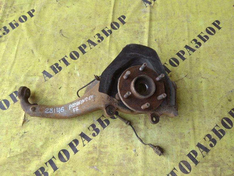 Кулак поворотный передний правый Nissan Pathfinder (R51M) 2004-2013 2.5 YD25DDTI 2006