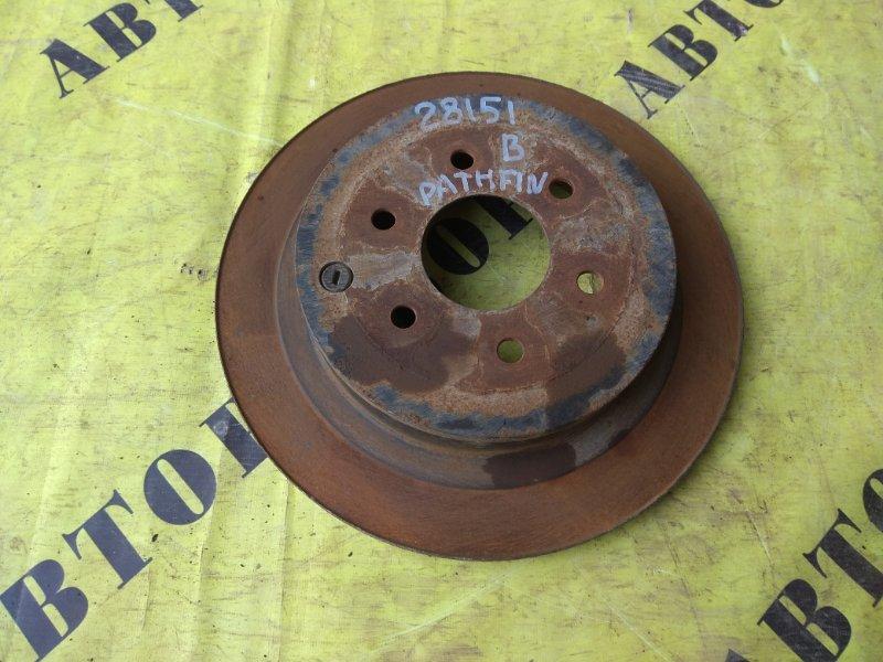 Диск тормозной задний Nissan Pathfinder (R51M) 2004-2013 2.5 YD25DDTI 2006