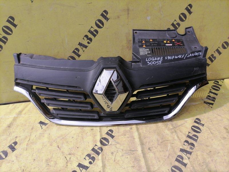 Решетка радиатора Renault Logan 2014-H.b.