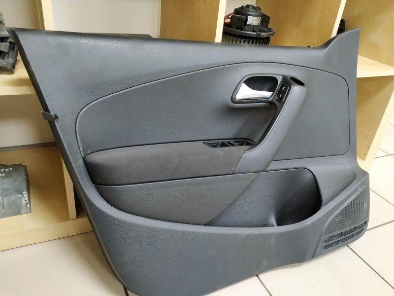 Обшивка двери передняя левая Vw Polo 5 HB CGG 2010 (б/у)