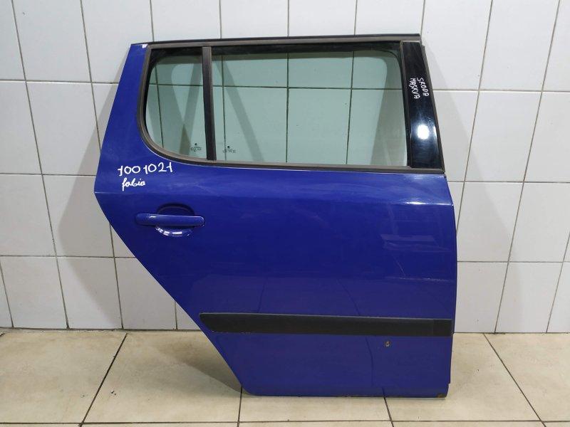Дверь задняя правая Skoda Fabia BZG 2007 (б/у)