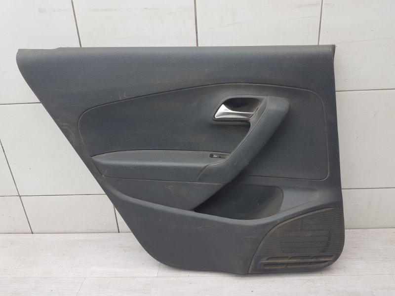 Обшивка двери задняя левая Vw Polo Sedan CFN 2013 (б/у)