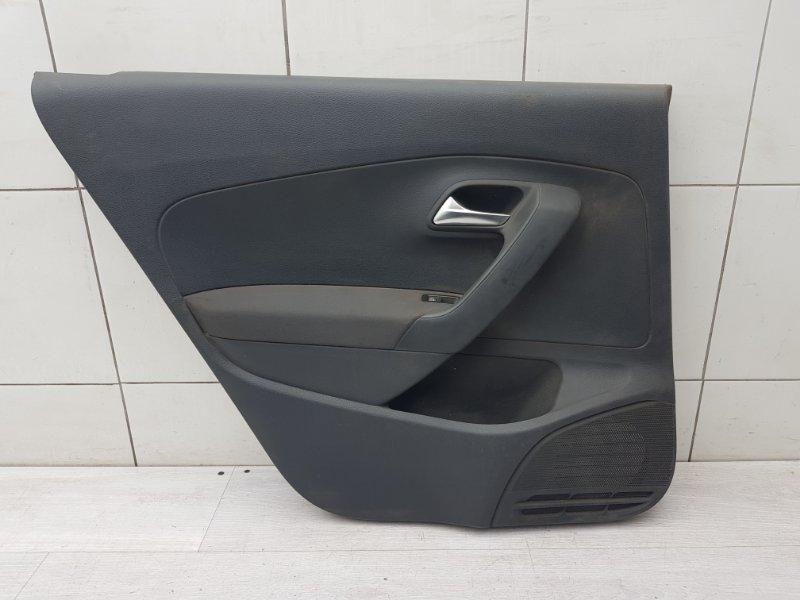 Обшивка двери задняя левая Vw Polo Sedan CFN 2012 (б/у)