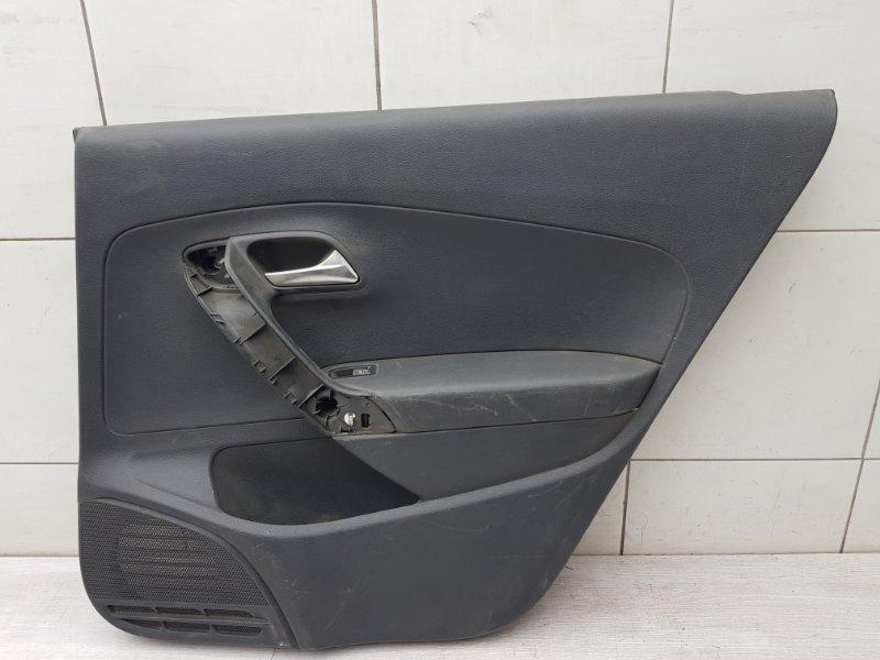 Обшивка двери задняя правая Vw Polo Sedan 2013 (б/у)