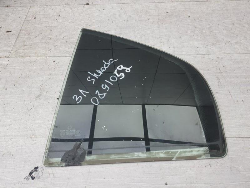 Форточка задняя левая Skoda Superb 1 AWT 2006 (б/у)