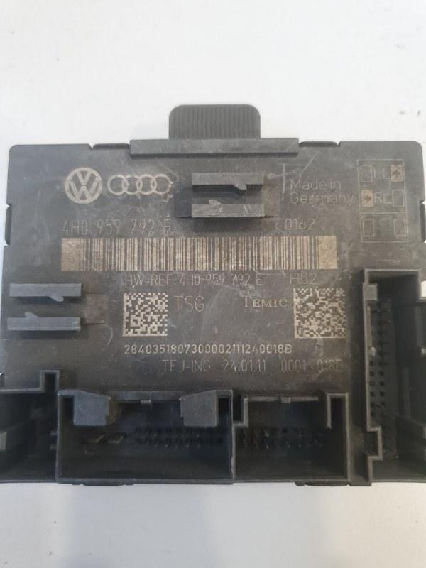 Блок управления двери Audi A8 4H 2010 передний правый (б/у)