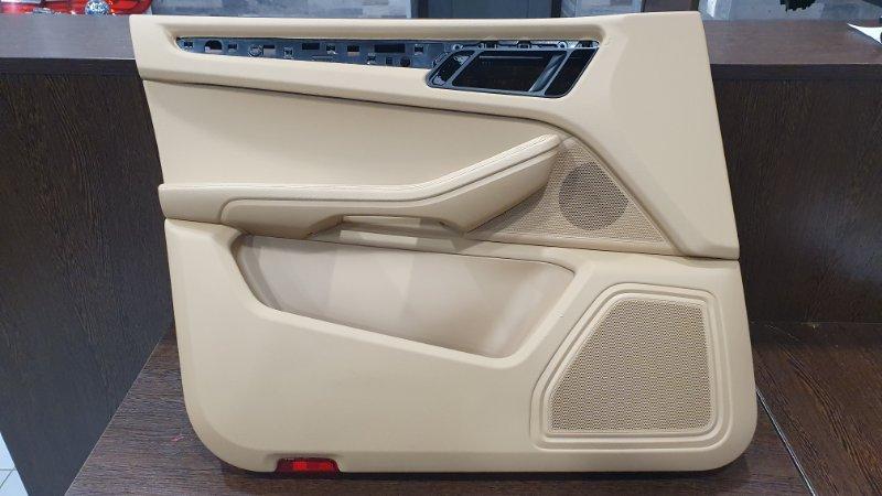 Обшивка двери Porsche Macan 95B 3.0 TDI 2014 передняя левая (б/у)