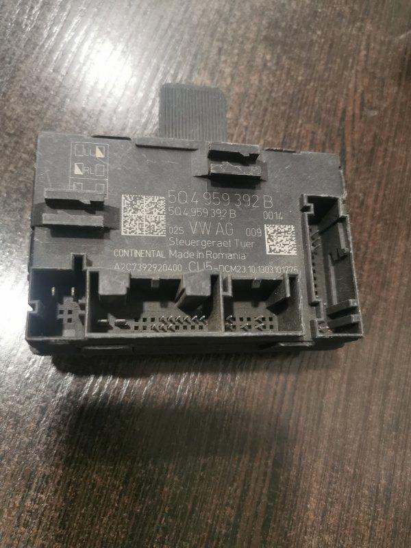 Блок управления двери Skoda Octavia 5E 2013 передний правый (б/у)