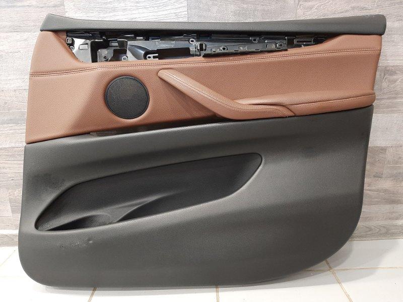 Обшивка двери Bmw X5 F15 3.0 N57D30A 2013 передняя правая (б/у)