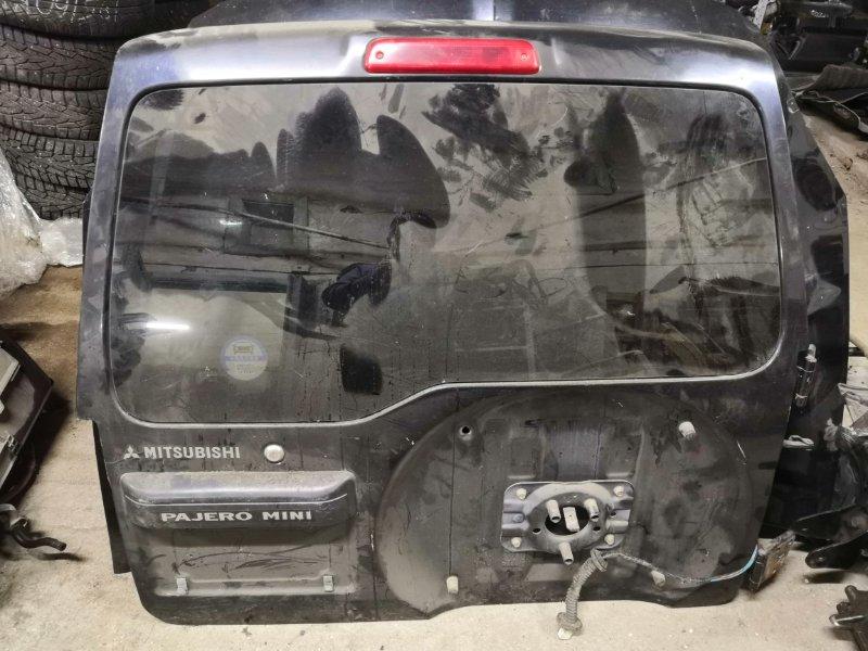 Дверь багажника Mitsubishi Pajero H56A задняя (б/у)