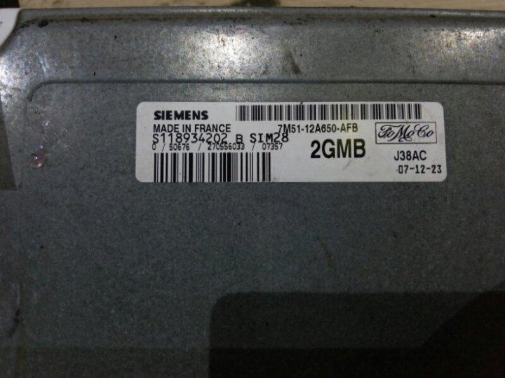 Электронный блок управления двигателем (эбу двс) Ford Focus 2 CB4 1.6 I 2008