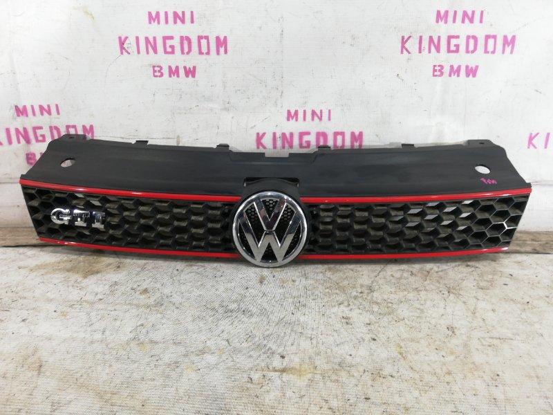 Решетка радиатора Volkswagen Polo V GTI ХЭТЧБЕК CAV 2012 передняя (б/у)