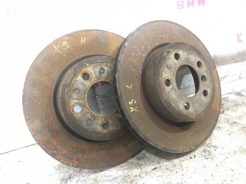 Тормозной диск Bmw X3 E83 N52 2006 передний (б/у)
