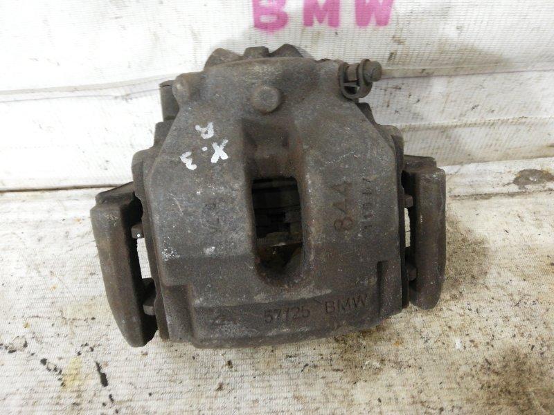 Суппорт тормозной Bmw X3 E83 N52B25A 2006 передний правый (б/у)
